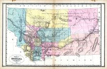 Montana, United States 1885 Atlas of Central and Midwestern States